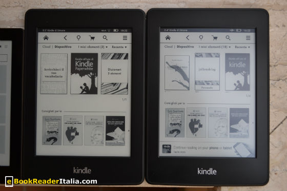 Kindle PaperWhite modello 2013 e modello 2012
