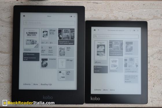 Kobo Aura e Kobo Aura HD a confronto