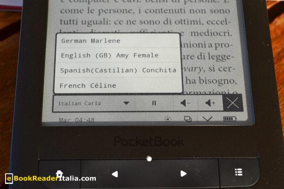 Le lingue della sintesi vocale del LeggoIBS Touch Lux HD