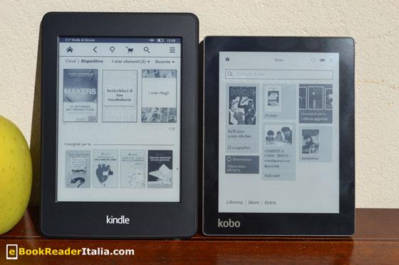 Kobo Aura e Kindle PaperWhite 2013 a confronto