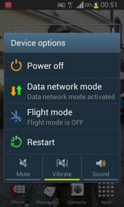Airplane mode per smartphone