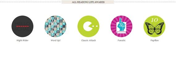 Kobo premia i lettori con diversi premi di difficoltà crescente in base a diversi parametri (numero di ebook scaricati, pagine lette, velocità di lettura)