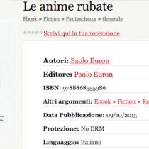 """""""Le anime rubate"""" di Paolo Euron [ #EbookIncipit ]"""