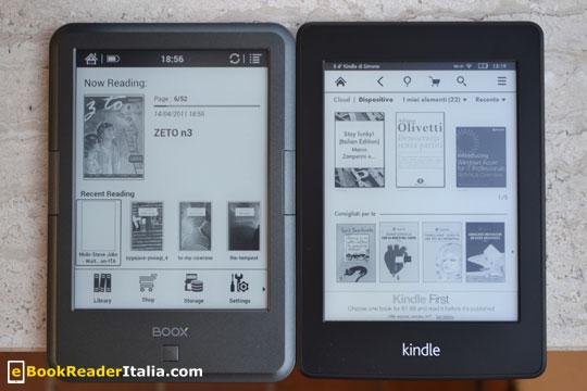 Le dimensioni sono equivalenti a quelle del Kindle PaperWhite ed. 2014 e di altri ebook reader da 6 pollici
