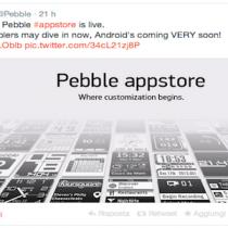 Pebble appstore è arrivato