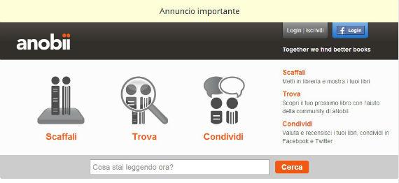 Il sito di Anobii, acquistato da Mondadori