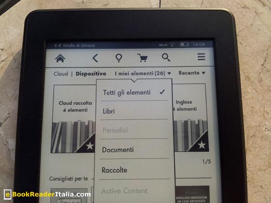 Le raccolte ora sono filtrabili dalla home screen. E' uno dei piccoli miglioramenti del nuovo software.