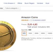 Arrivati anche in Italia gli Amazon Coins