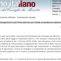 Firmato il decreto Fondo straordinario per l'editoria da 45 milioni di euro