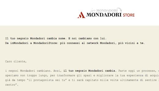 inMondadori cambia nome in MondadoriStore