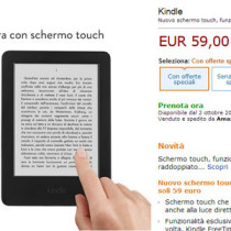 Amazon Kindle Touch, in arrivo i primi ordini a 59 euro