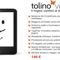 Tolino Vision 2 è già da oggi in Italia con Ibs