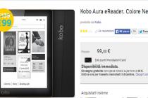 Ribassati a 99 euro gli ereader Kobo Aura e Kobo Glo, fino al 31 dicembre