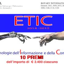 ETIC 2014-2015, bando per tesi di laurea e dottorato su Etica e Tecnologie (TIC)