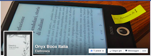 La pagina Facebook italiana di Onyx Boox ferma all'estate 2014.