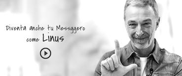 Linus, uno dei testimonial per la campagna #ioleggoperché (con qualche piccolo refuso ;-) ).
