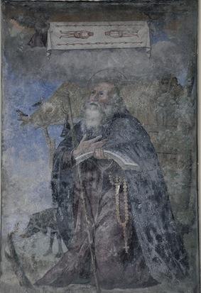 Un affresco sindonico a Cuneo, vi compare sant'Antonio del deserto.