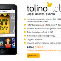 Tolino tab 8 arriva in Italia su Ibs.it, tablet 8 pollici a 199 euro