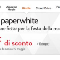Kindle PaperWhite scontati di 20 euro fino al 10 maggio
