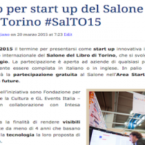 Le 10 start up presenti al Salone del Libro Torino #SalTO15