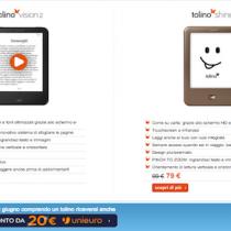 Tolino Vision 2 a 109 euro: ereader e tablet Tolino scontati fino al 10 giugno