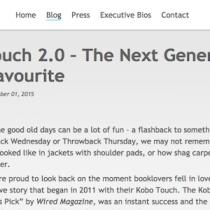 Kobo Touch 2.0 arriva in Italia a fine settembre