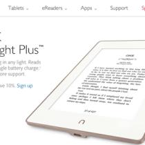 NOOK GlowLight Plus: schermo 300 ppi massima risoluzione