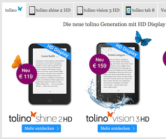 tolino shine 2 hd e vision 3 hd arrivano dal 26 ottobre ebookreader italia. Black Bedroom Furniture Sets. Home Design Ideas