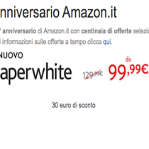 Kindle PaperWhite a 99,99 euro: è l'anticipo del #BlackFriday