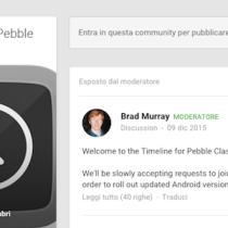 L'interfaccia Timeline arriva anche ai Pebble Classic e Steel: parte il Beta Test