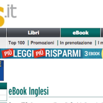 1 milione di ebook in lingua inglese su Ibs.it