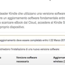Entro il 22 marzo aggiorna il tuo Kindle, se acquistato prima del 2014