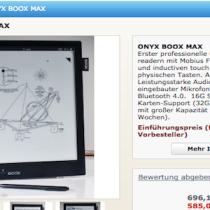 In pre-ordine l'ereader 13.3 pollici Onyx Boox Max