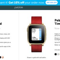 Gli smartwatch Pebble scontati fino al 30%