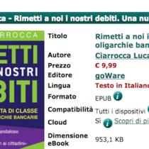 """Ebook a proposito di banche: """"Rimetti a noi i nostri debiti"""" di Luca Ciarrocca [ #EbookIncipit ]"""