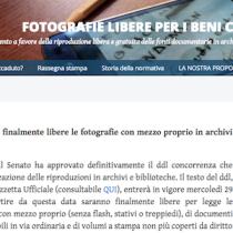 Dal 29 agosto fotografie libere in archivi e biblioteche