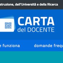 Carta del Docente: accreditato il bonus da 500 euro per questo anno di scuola