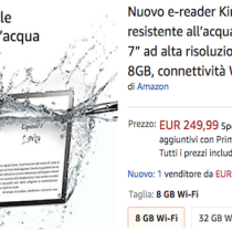 Amazon Kindle Oasis, l'ereader 7 pollici che resiste all'acqua