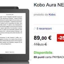 Cyber Monday: Kobo Aura a 89 euro