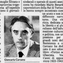 Esce in seconda edizione il libro di Giancarlo Carcano 'Cronaca di una rivolta'