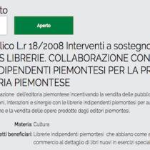 Piemonte, bando bonus librerie: entro il 7 settembre la domanda
