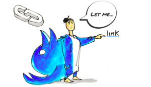 Il diritto di link interpretato nel disegno di François Grimonprez di Quidos per la campagna #SAveYourInternet