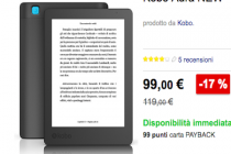 Kobo Aura in offerta a 99 euro