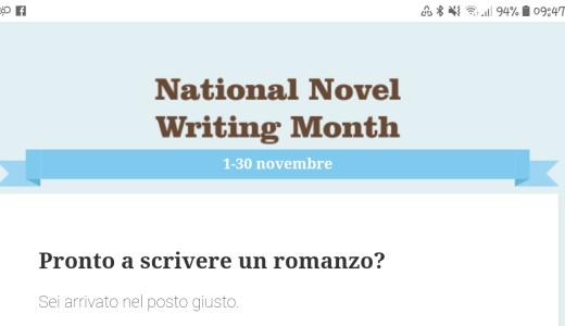 Novembre ti dà un obiettivo di scrittura: è NaNoWriMo