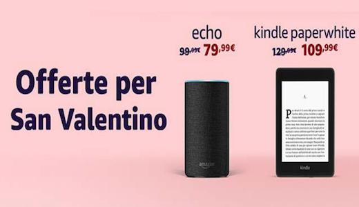 Amazon Kindle Paperwhite in offerta tra i regali di San Valentino 2019