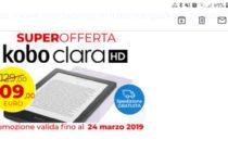 Kobo Clara, risparmi 20 euro fino al 24 marzo