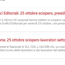Editoria: il 25 ottobre sciopero generale grafico editoriale