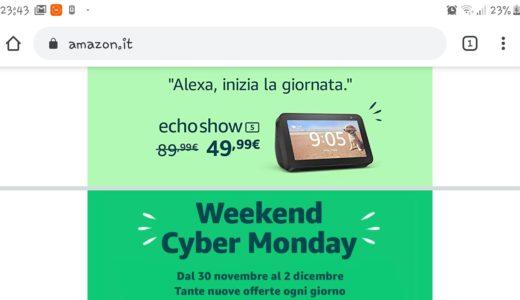 Cyber Monday con gli sconti sulla tecnologia