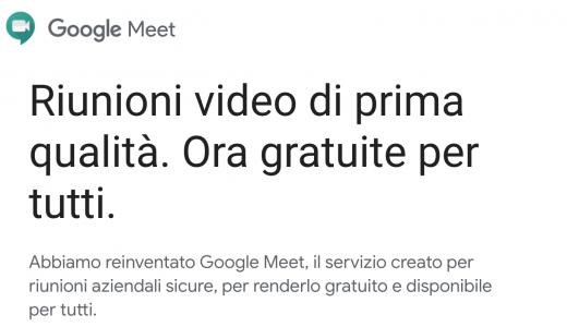 Meet videoconferenza gratis per tutti gli account Google