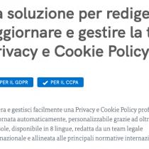 Con Iubenda adegui il tuo sito a Privacy e Cookie Policy